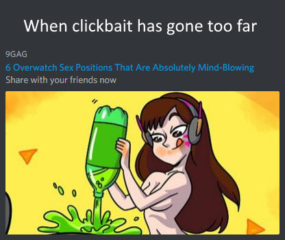 When clickbait has gone too far (dva is hot though) - meme