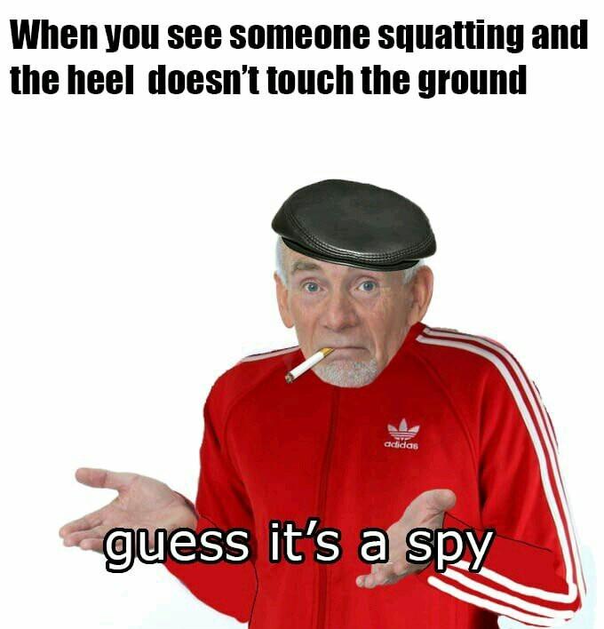 Squat like true slav - meme