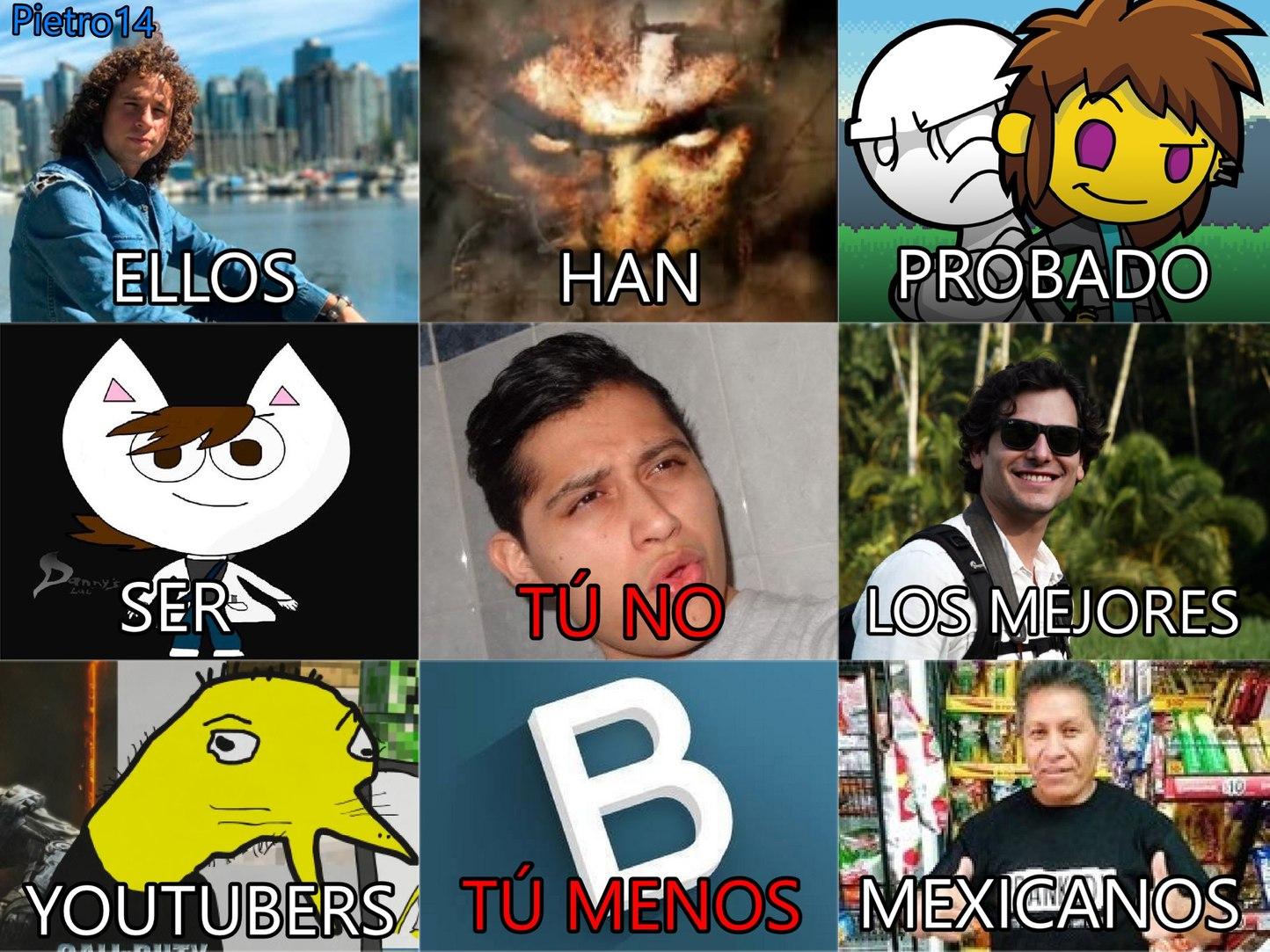los mejores youtubers - meme