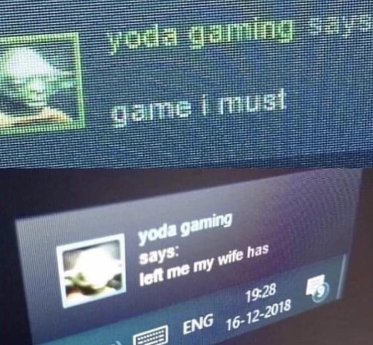Gaming yoda - meme