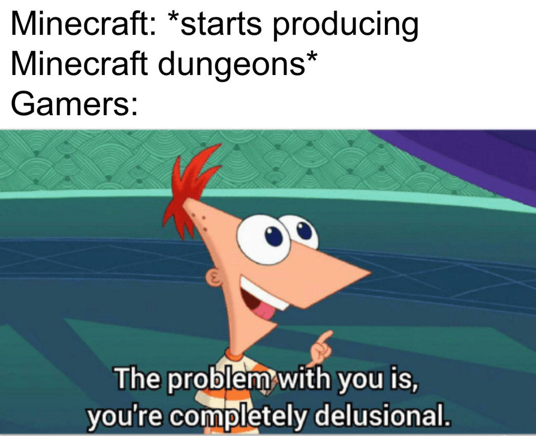 Minecraft because - meme