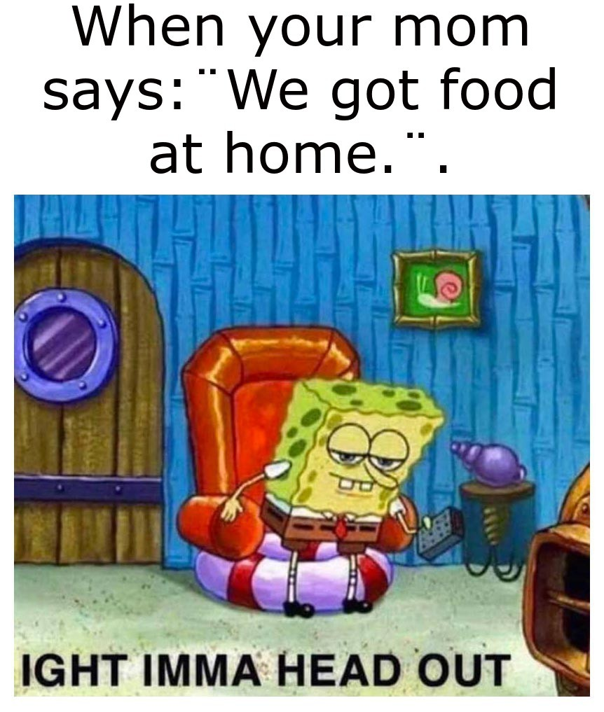no food at home - meme