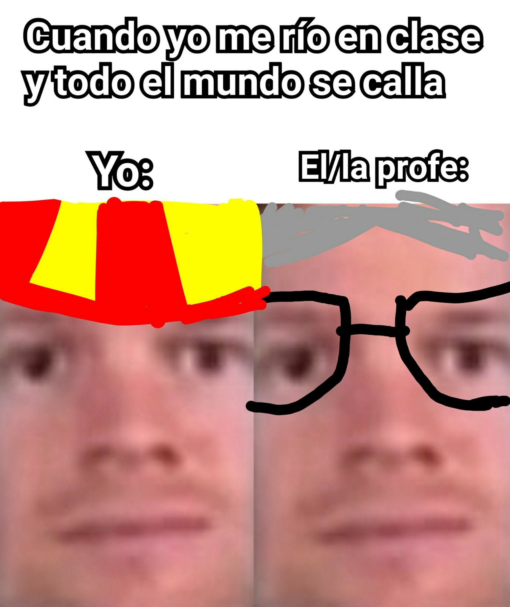 Jaja hola profe que tal - meme