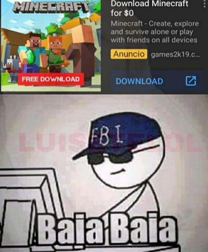 Minecraft free 100% - meme