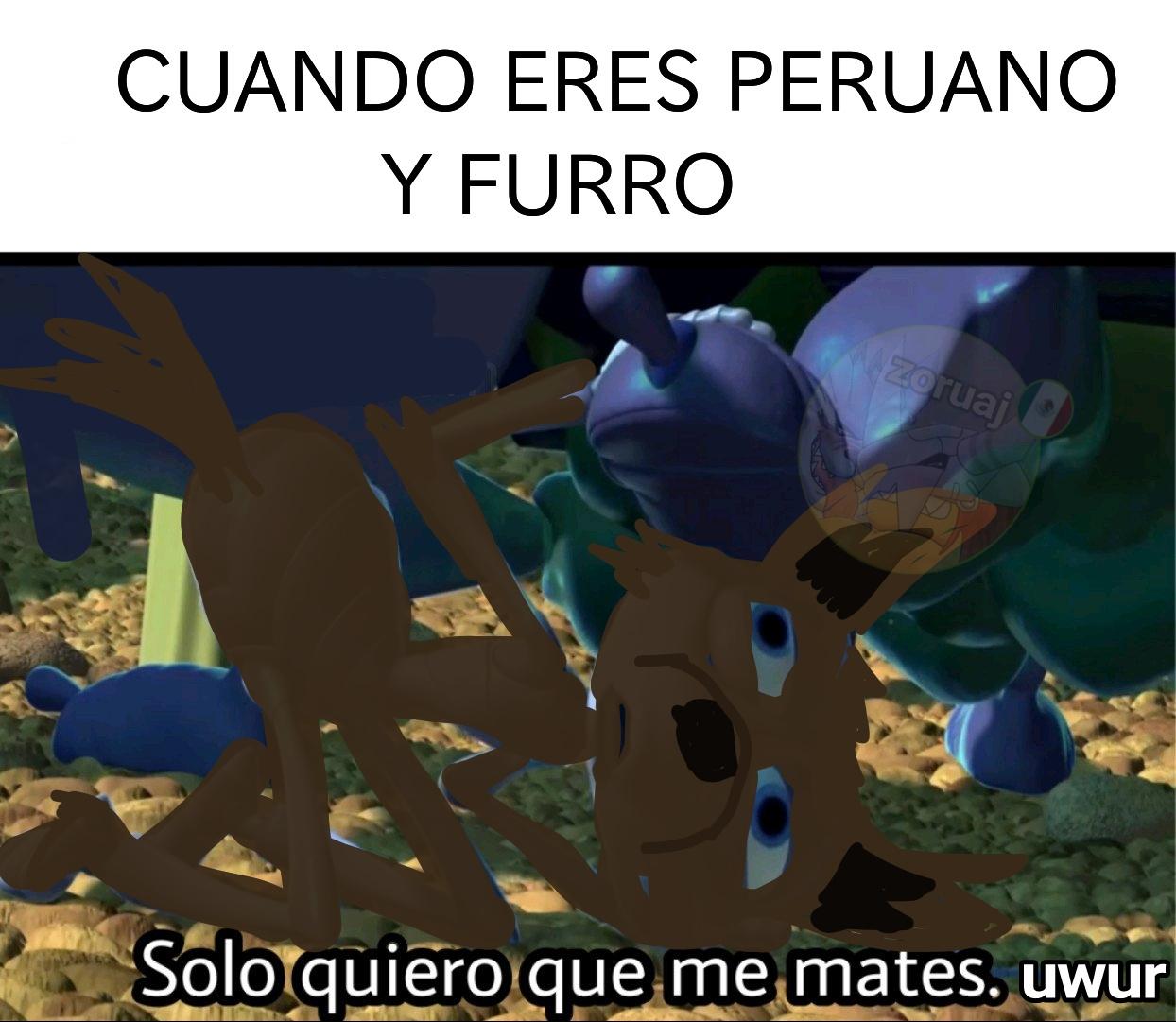 Dios no castiga dos veces... Peruano guero!!! - meme