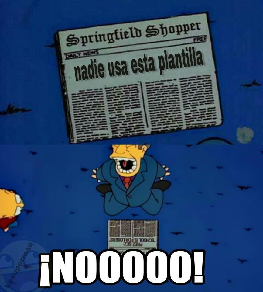 Pobre plantilla - meme
