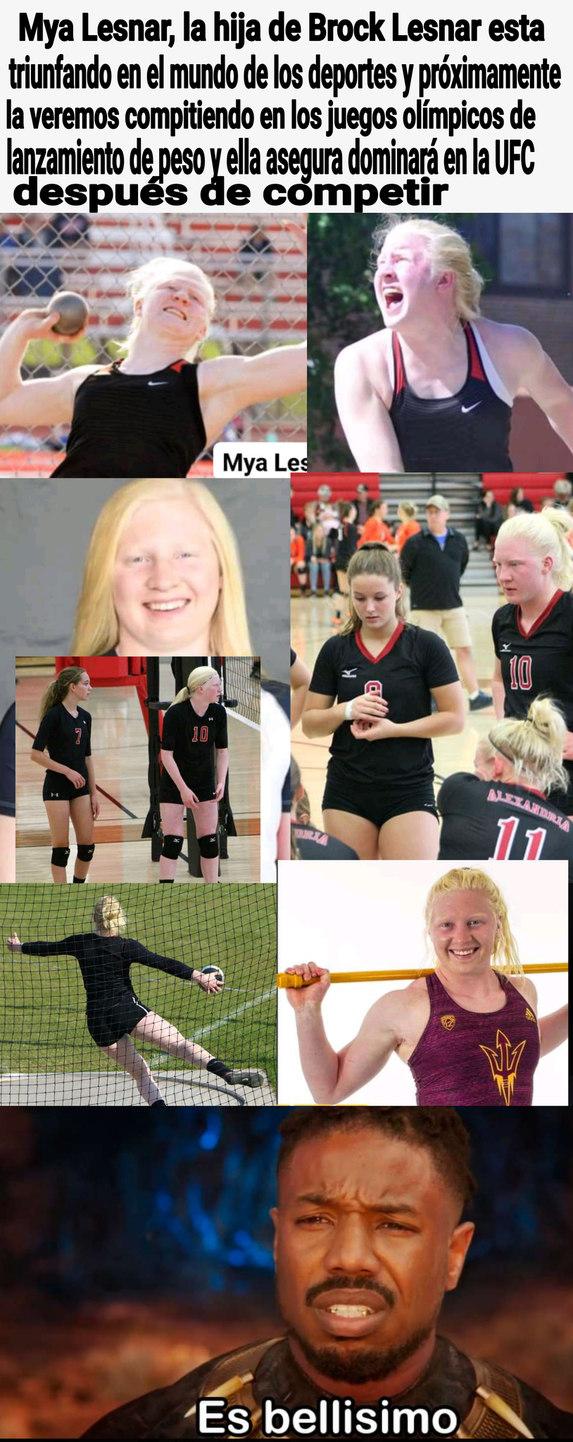 Wn quien no se querría reproducir con esta atleta de genes perfectos? Una vikinga - meme