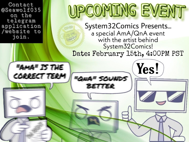 QnA/AmA System32Comics information - meme