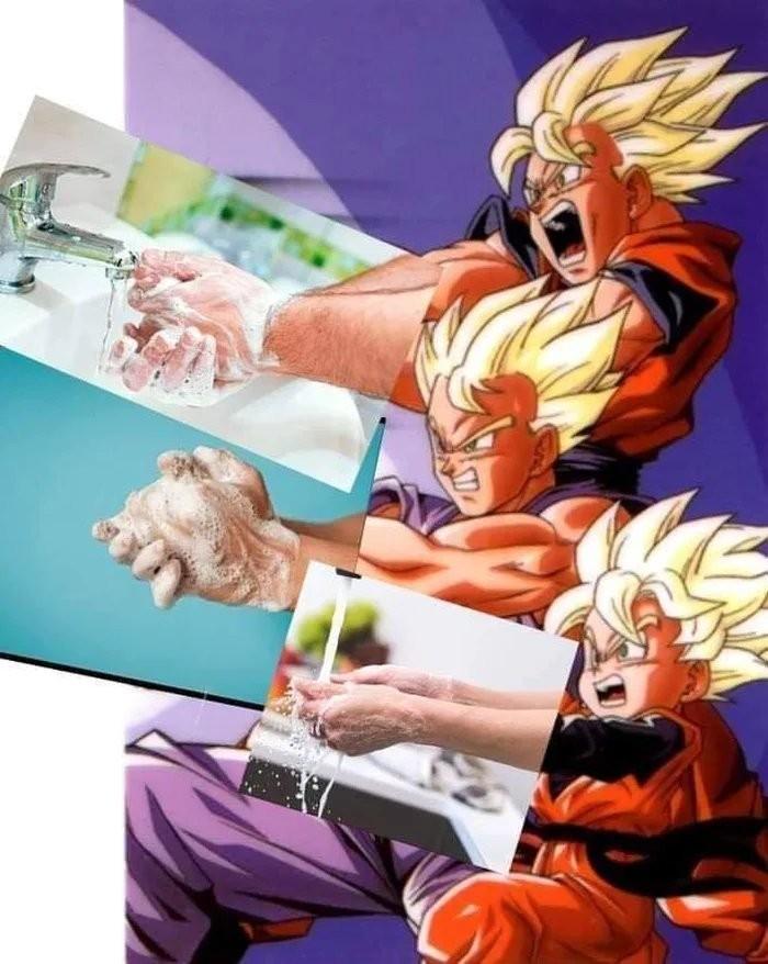 Lavem as mãos - meme