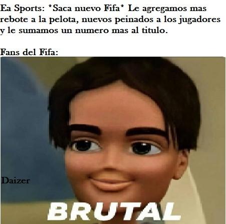 No me funen fans del FIFA, por favor... - meme