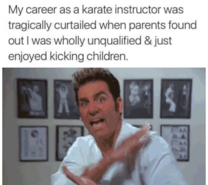 Karate instructor dreams - meme