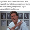 Karate instructor dreams