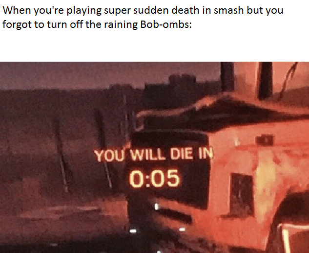 How many of you who own Smash Ultimate have stage hazards turned on? - meme