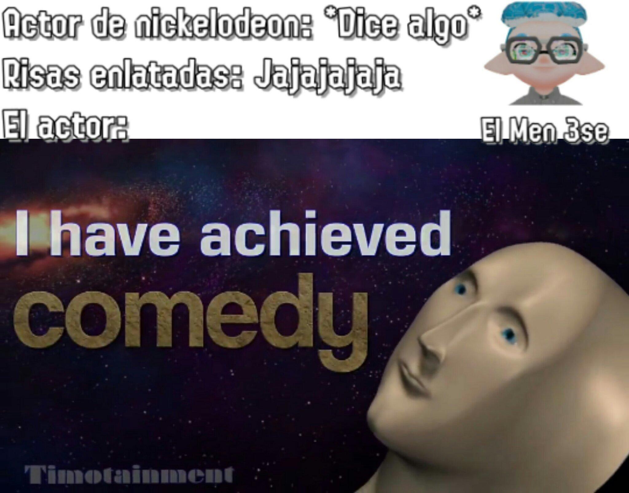 El vídeo dónde se originó la plantilla se llama Stand Comedy - meme