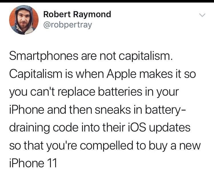 bUt CaPitAliSM mAdE YoUr pHonE - meme