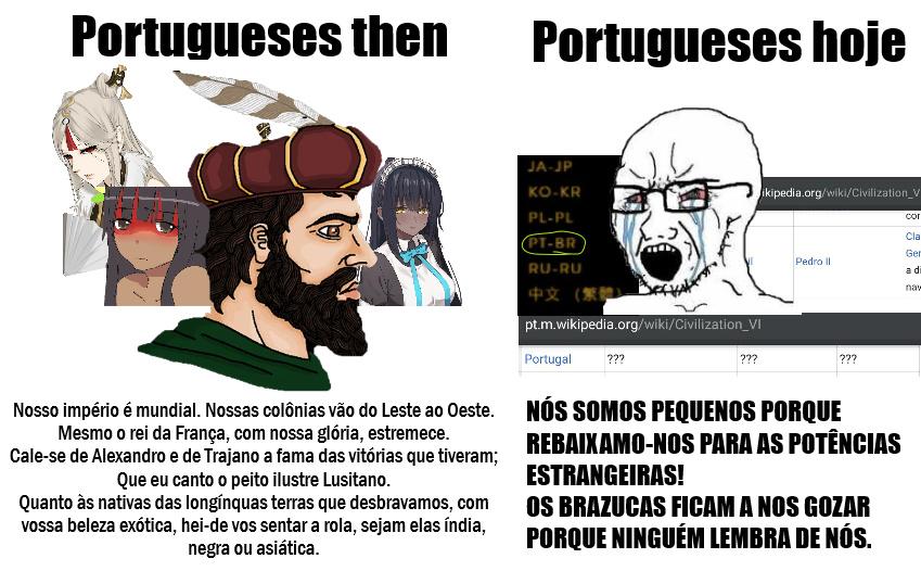 Zuar português sem motivo porque sim - meme