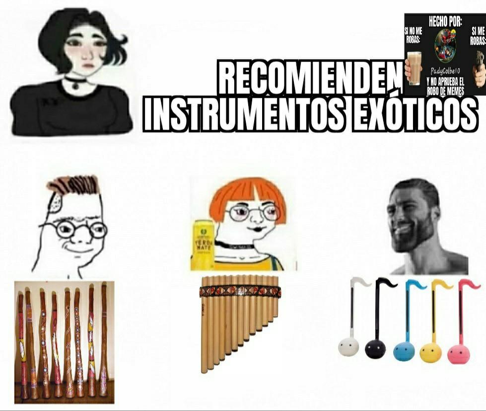 Ese instrumento es muy gracioso - meme