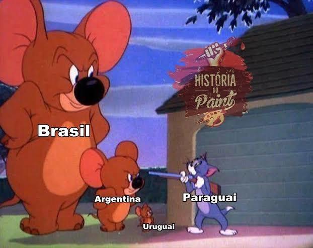 Paragay não devia ter mexido com o império Brasileiro - meme
