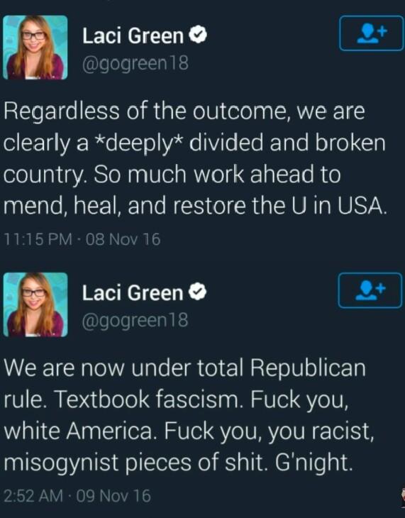 Laci Green is a cunt - meme
