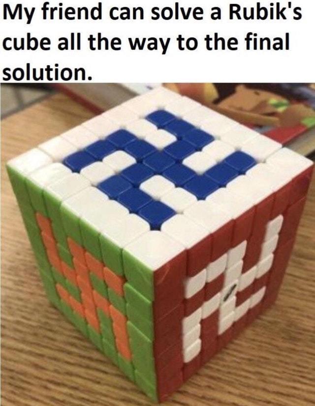 The final solution - meme