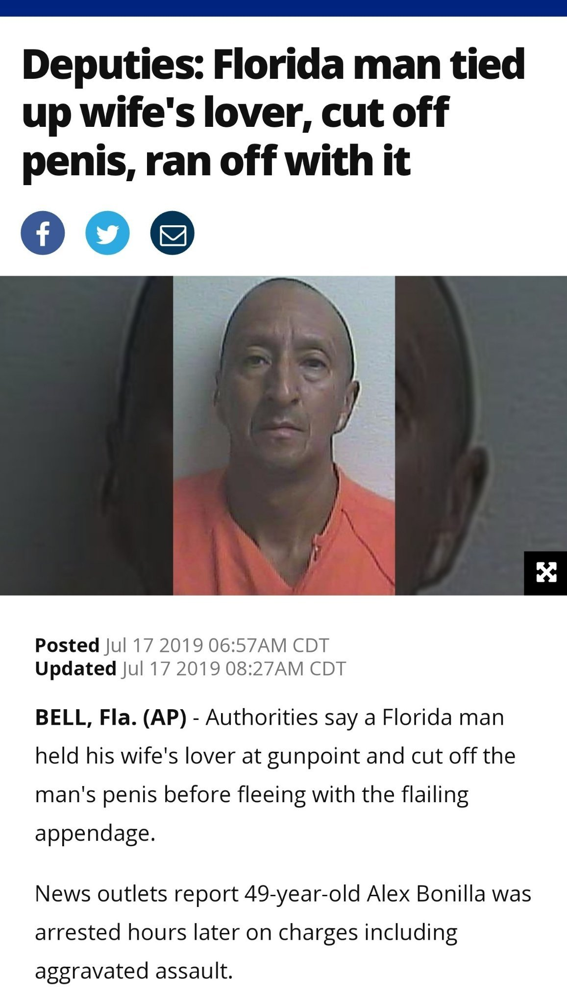Florida man at it again - meme