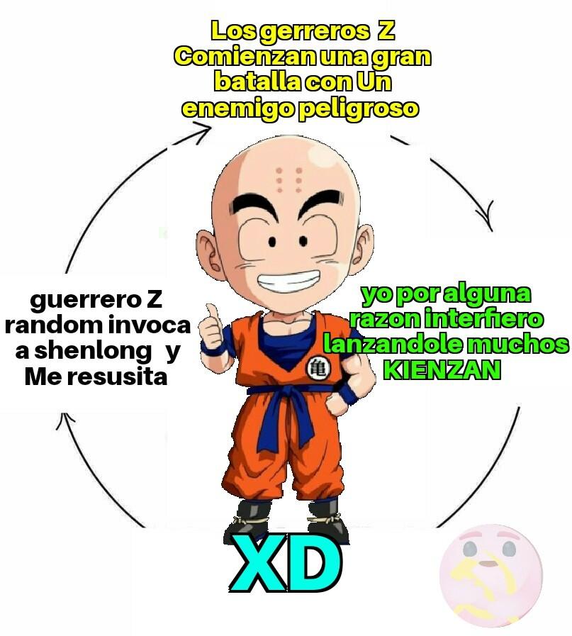 Psd : no solo por hacer un meme de  krilin  significa que sea Un asqueroso Otaku Culiau