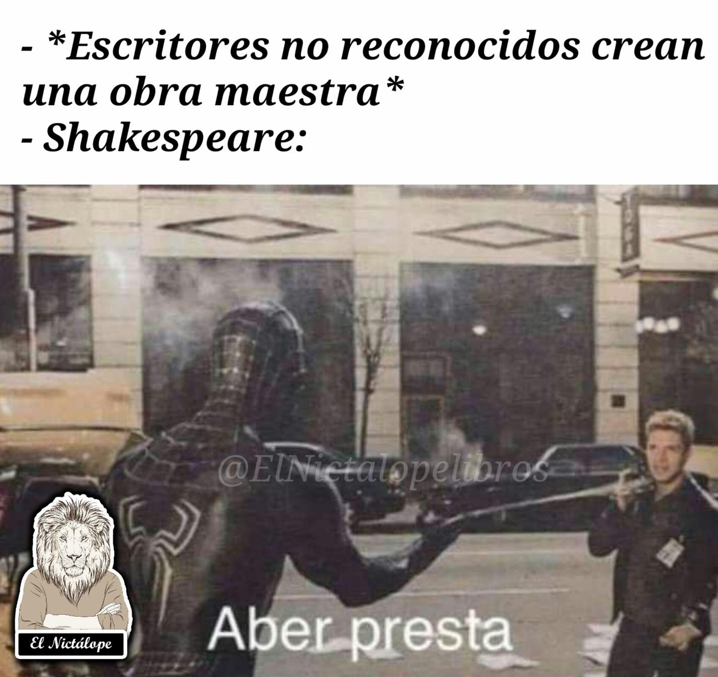 Shakespeare hacia repost - meme