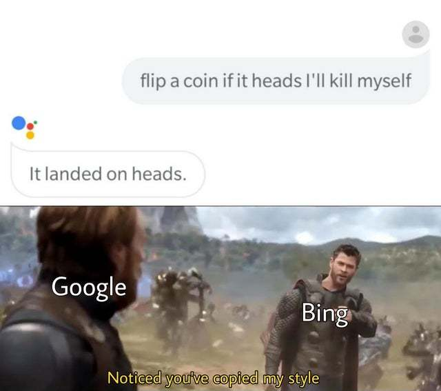 Flip a coin if it heads I'll kill myself - meme