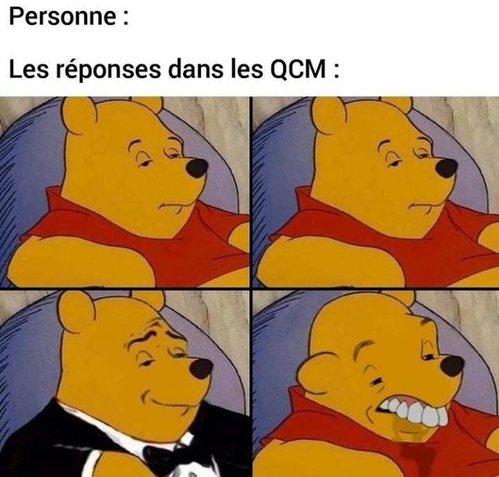 Meanwhile in our *QCM* - meme