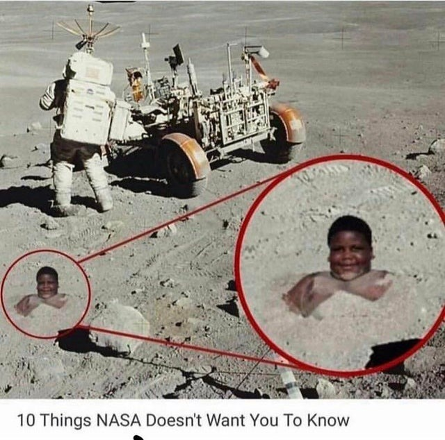 He hides on the moon, waiting for the moment - meme