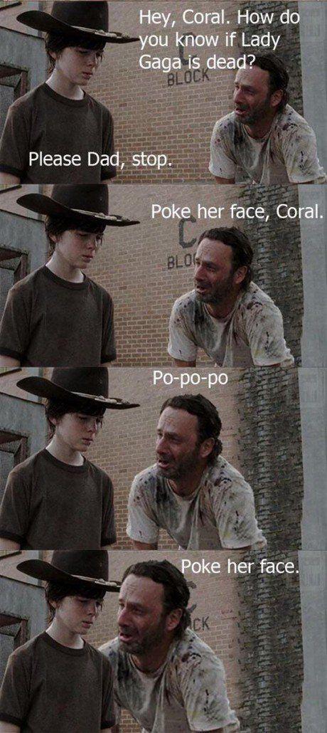 poke her face coral - meme
