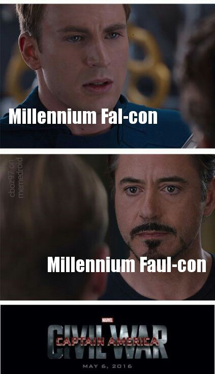 Falcon or Faul-con? - meme