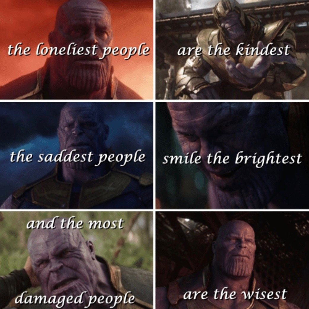 thanos is my favorite hero - meme