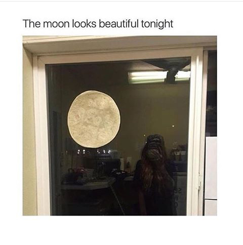 When the moon hits your eye like a big pizza pie, that's amore... - meme