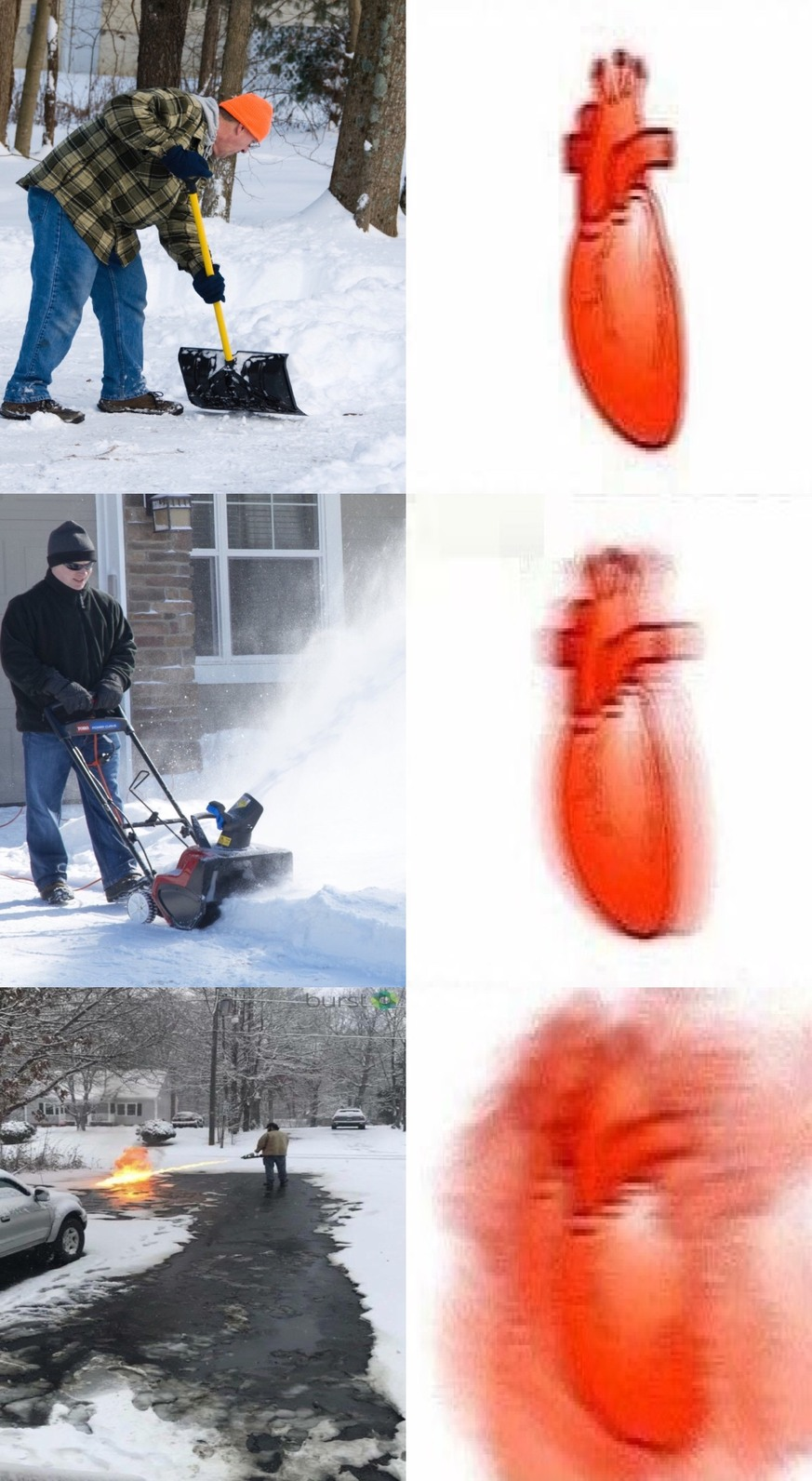 Man in Fargo arrested for clearing snow with flamethrower - meme