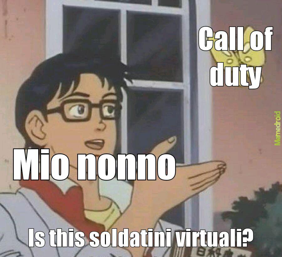 Il titolo sta giocando a call of duty - meme