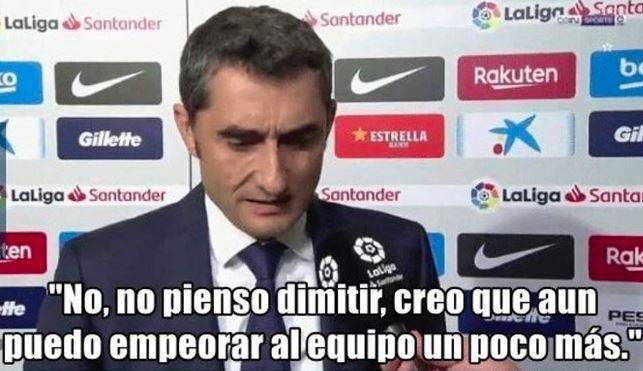 Valverde no puedes empeorar más la cosas ? - meme