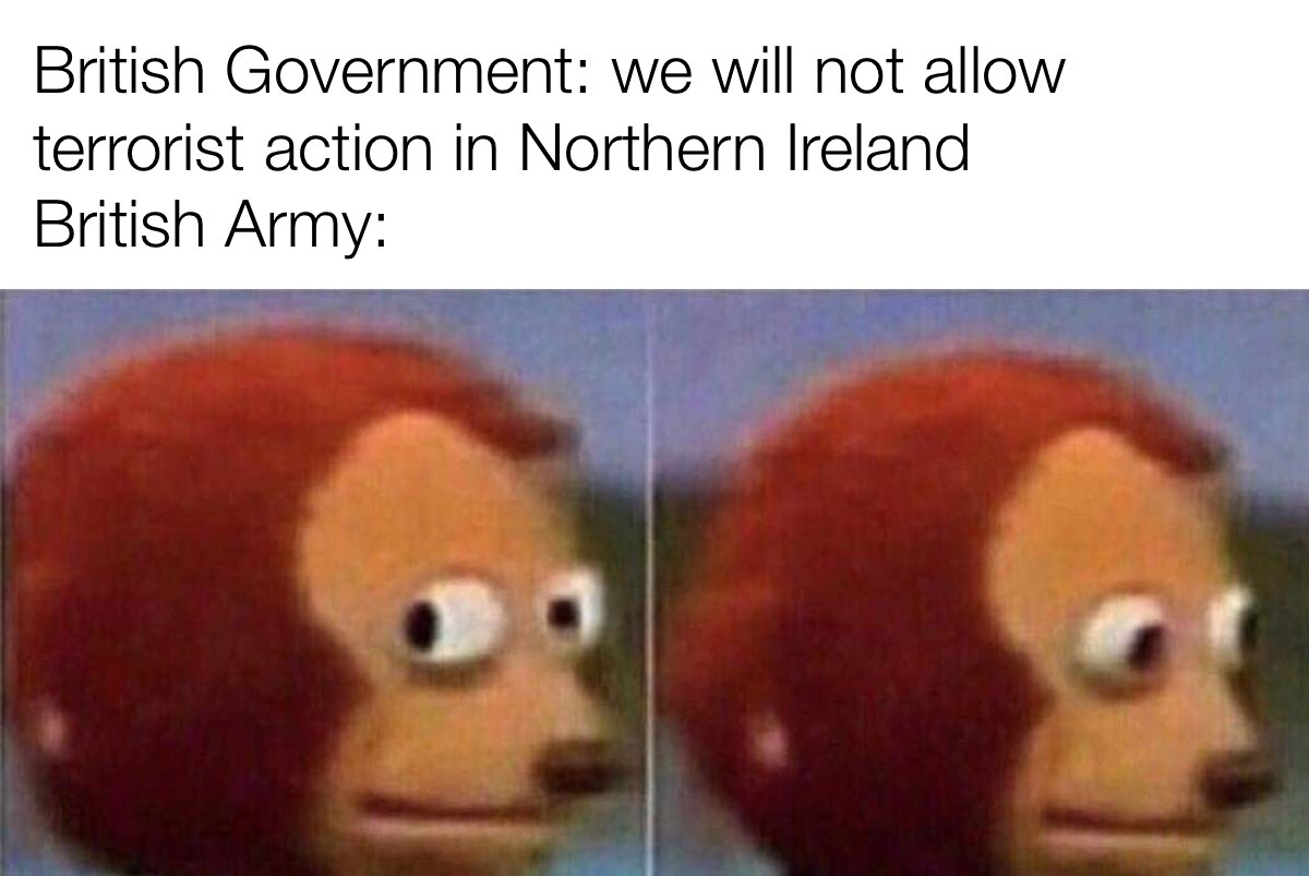 witty title about the Troubles - meme
