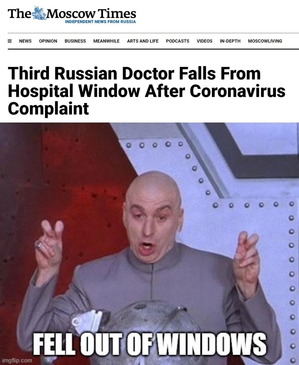 Beware of russian windows - meme