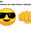 Cualquier emoji y un puño