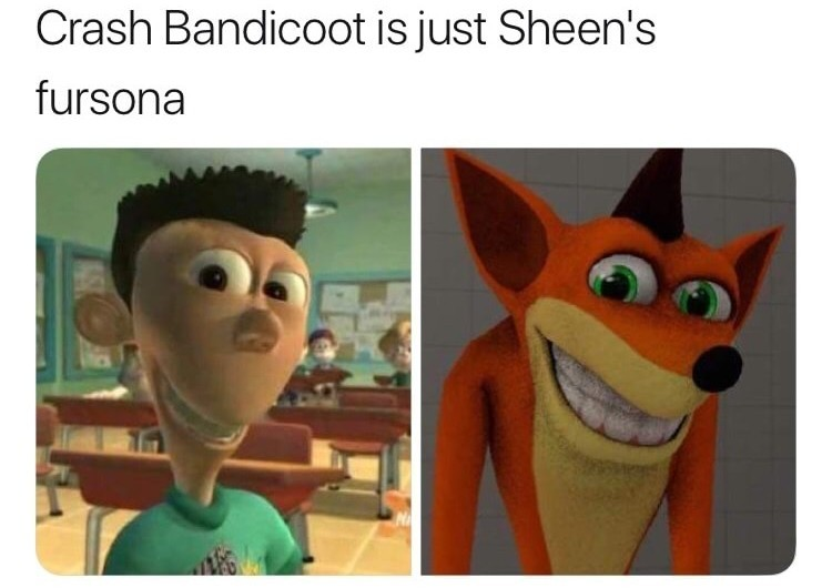 Oh no, Sheen was a furry the whole time - meme