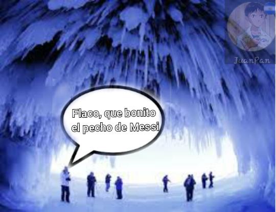 Tremendo pecho frío en Messi - meme