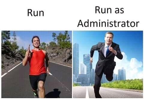 you must run anyway ! - meme