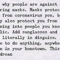 I never dreamt I'd use a mask legally in a Bank