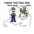 Mario Verde y Zelda
