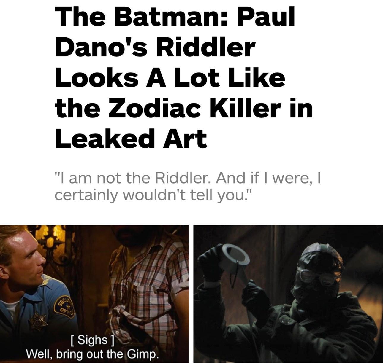 Riddle me this Batman... - meme