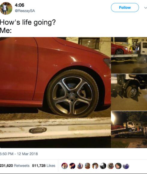 It's a flat fucking tire you fucking weakass cunt - meme