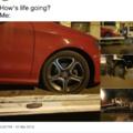 It's a flat fucking tire you fucking weakass cunt