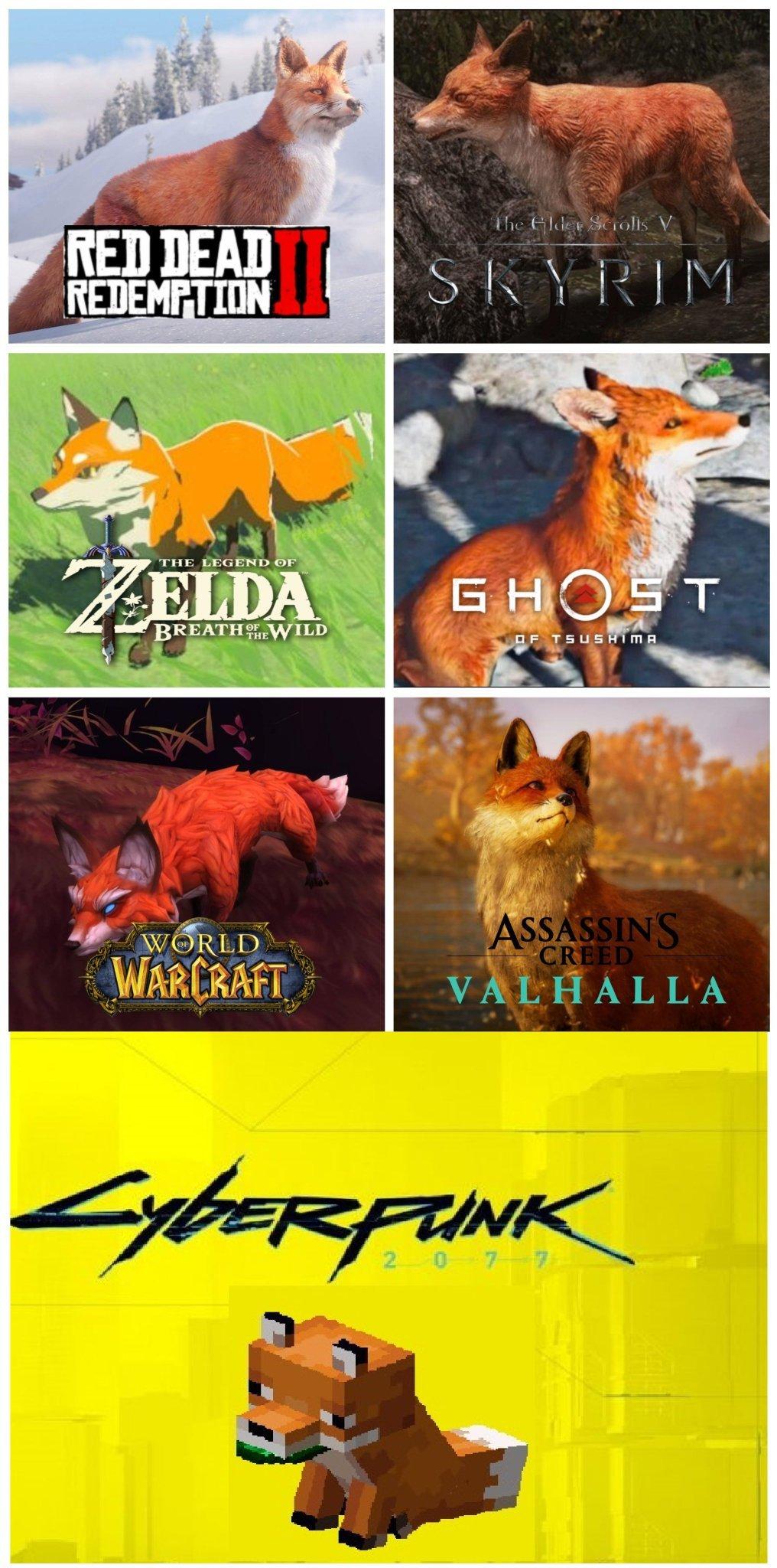 Les renards dans les jeux vidéos (*_*) - meme