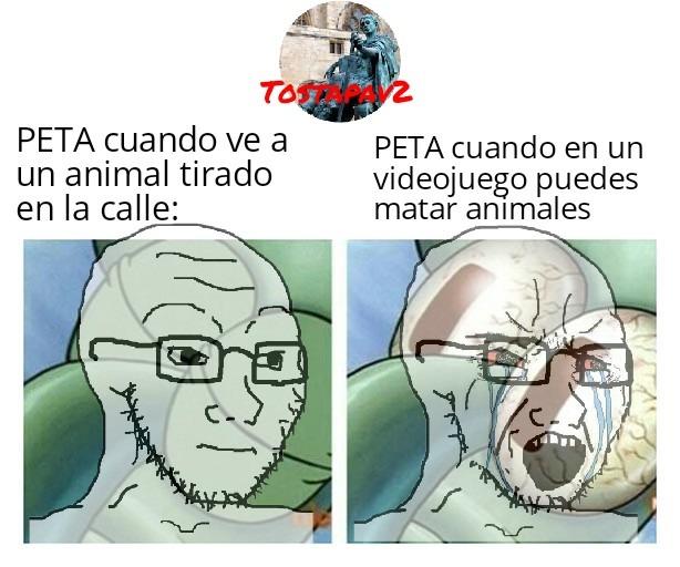 PETA lo peta - meme